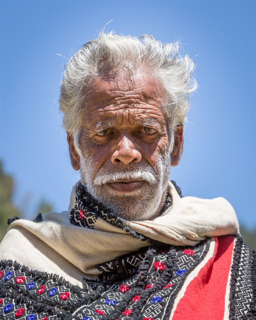 Portrait of a Toda Tribe elder