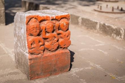 By a memorial commemorating Tanaji Malusare