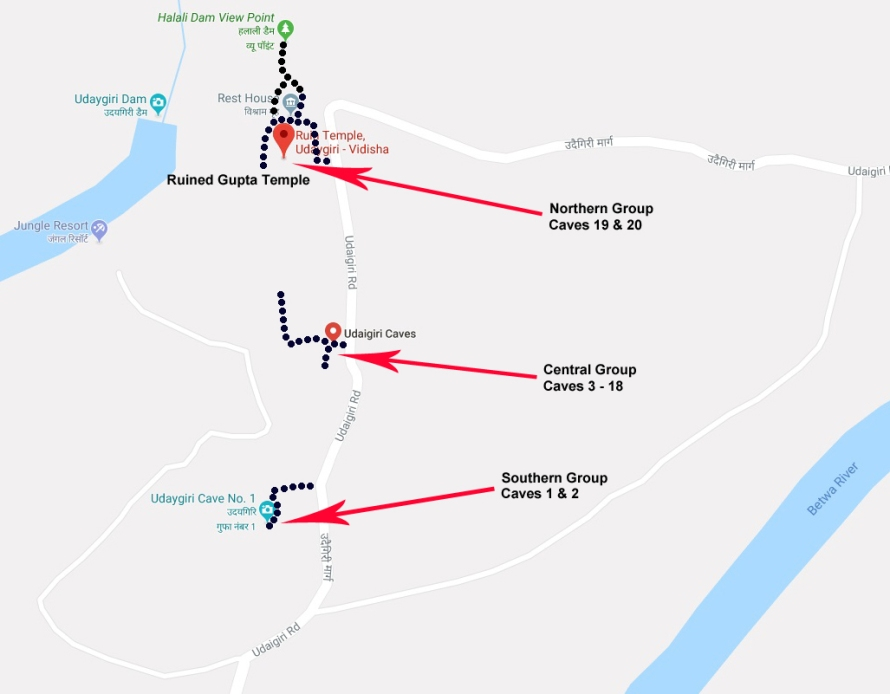 Udayagiri Map