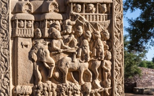Procession of king Suddhodana from Kapilavastu