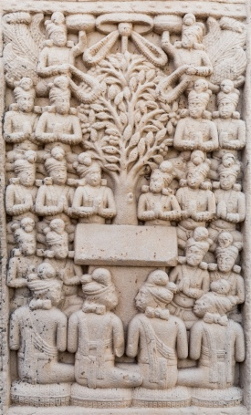 The Gods entreating Buddha to preach
