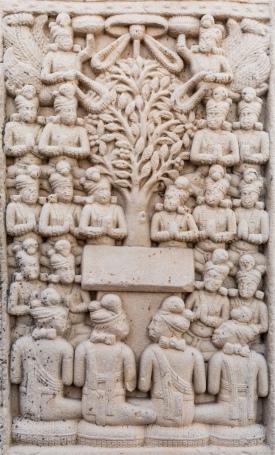 The Gods entreating Buddha to preach