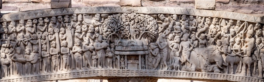 Ashoka's visit to the Bodhi tree