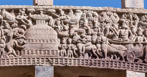 King Ashoka visits Ramagrama