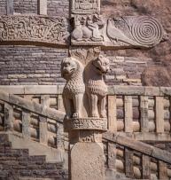 Lion capitals - South Gateway