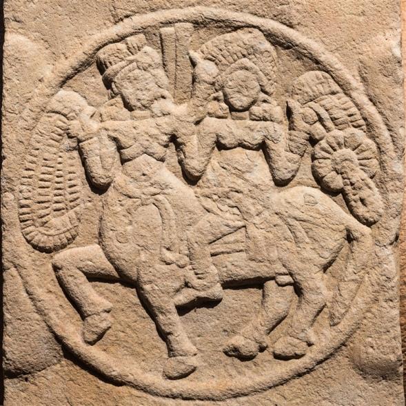 Female riding a Centaur