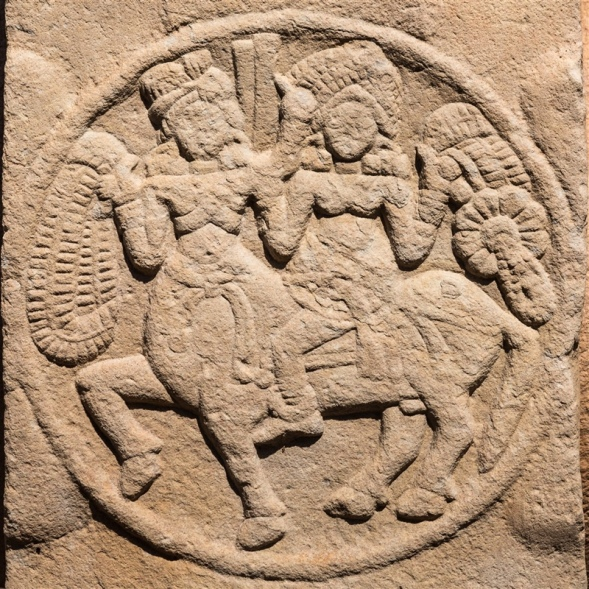 Female riding a Centaur