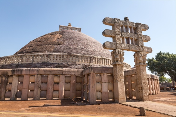 West Gateway - Sanchi Stupa 1