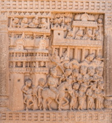 Procession of King Prasenajit of Kosala leaving Sravasti to meet the Buddha
