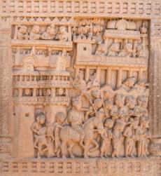 Procession of King Prasenajit of Kosala leaving Sravasti to meet the Buddha