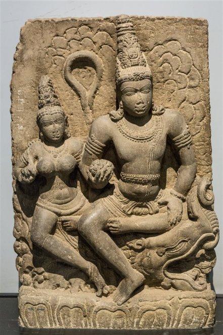 Varuna with Varunani, from Karnataka. 8th century A.D.