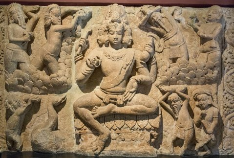 Brahma ceiling slab from Aihole. 7th century A.D.