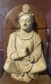 Stucco Bodhisattva from Gandhara. 5th century A.D.