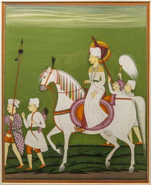 Balaji Bairao alias Nanasaheb Peshwa, Deccani. Copy made in 1854.