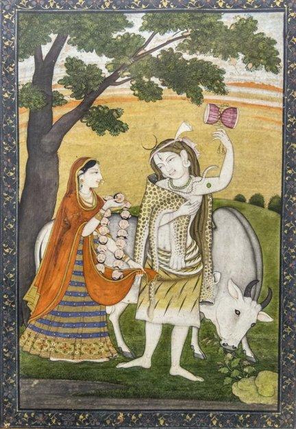 Shiva Parvati, Pahari. Late 18th century A.D.