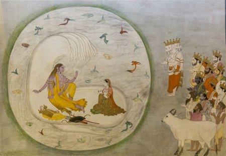 Vishnu as Narayana, Pahari. 1790 A.D.