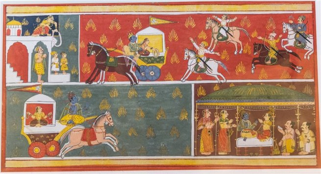 Marriage of Krishna and Kalindi, Malwa. Early 18th century A.D.