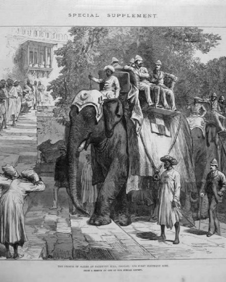 Prince of Wales visiting Parvati Hill in Pune - 1870 - 2
