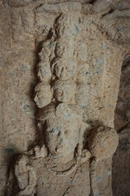 The only representation in stone of the eleven-headed Avalokiteshvara in India
