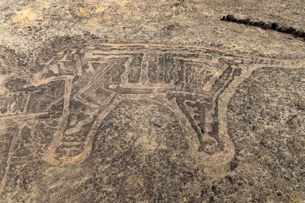 Tarawacha Sada (Master of Animals) petroglyph at Barsu Sada