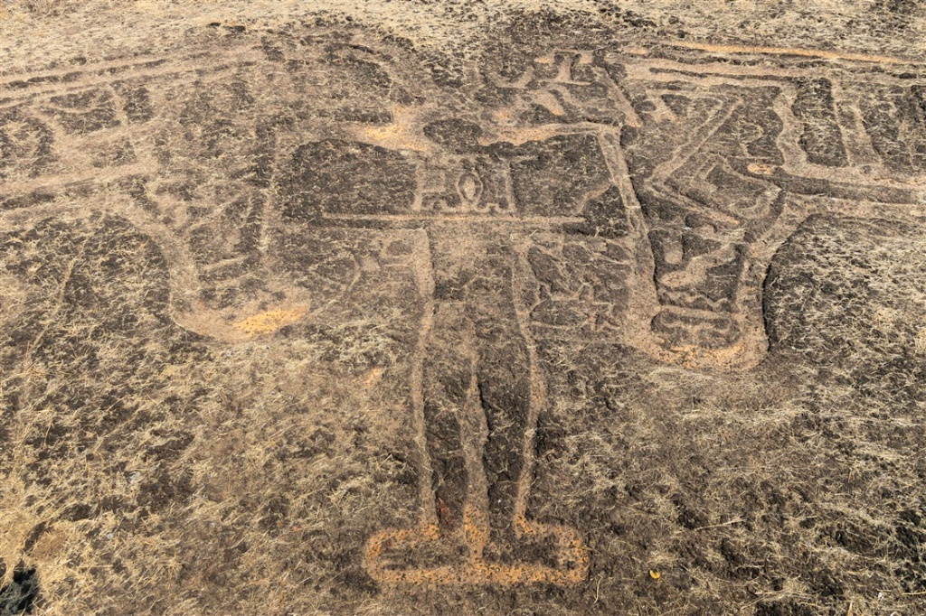 Master of Animals petroglyph at Barsu Sada