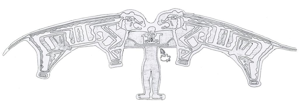 Sketch of Tarawacha Sada (Master of Animals) petroglyph at Barsu Sada