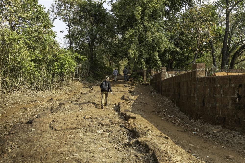 Hike up a trackway to the Devache Gothane petroglyph site