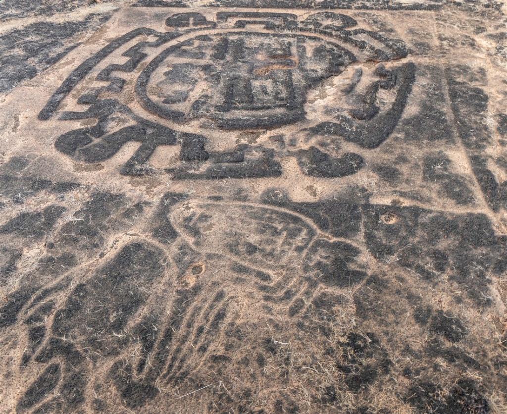 Jellyfish petroglyph - Rundhe Tali