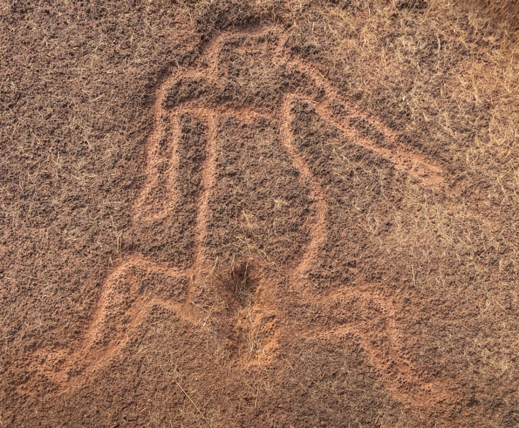 Mother Goddess petroglyph - Chave Dewood