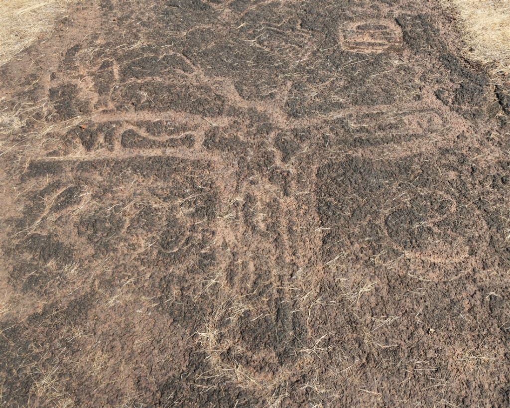 Possible hummingbird petroglyph - Ukshi