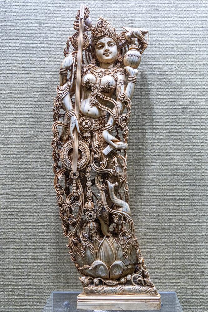 Saraswati (carved in ivory)
