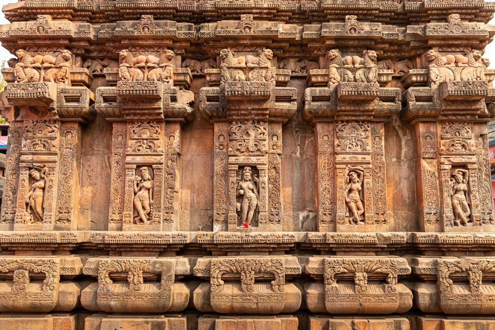 Vaitala Temple walls
